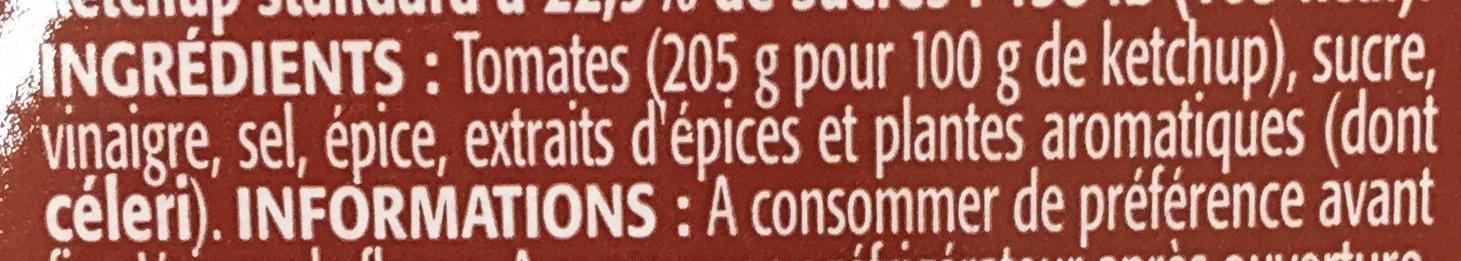 P'tit Ketchup (- 30 % de sucres) - Ingrédients
