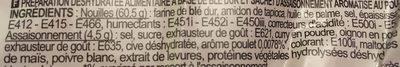 Nouilles Chinoises - Saveur Poulet - Ingredients - fr