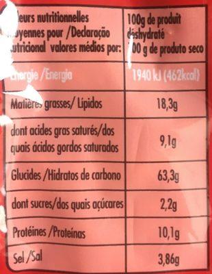 Nouilles Chinoises Saveur bœuf - Voedingswaarden - fr