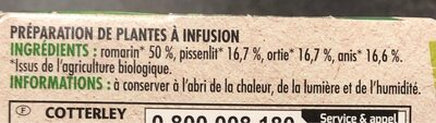 Infusion 4 Plantes - Informations nutritionnelles - fr