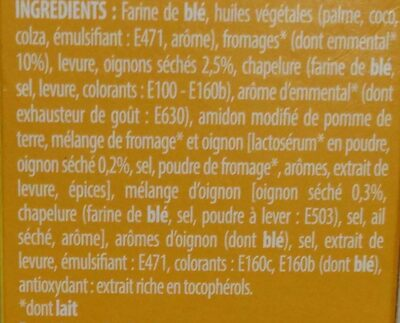 Biscuits croquants emmental oignon - Ingrédients - fr
