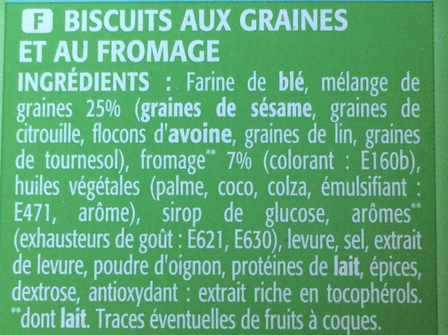 Crackers Gouda et Graines - Ingrédients