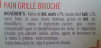 Fines tranches briochées 24 tranches - Ingredients