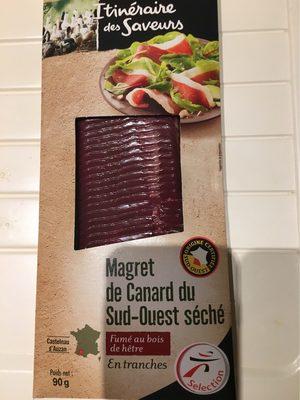 Magret de Canard du Sud-Ouest Séché Fumé au bois de hêtre en tranches - Producto