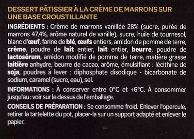 La remarquable tartelette la cr me de marrons - Bicarbonate de soude intermarche ...