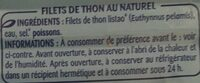 Filets de thon au naturel - Ingredienti - fr