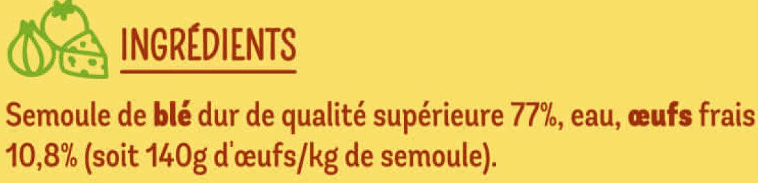 Tagliatelles - Ingrédients