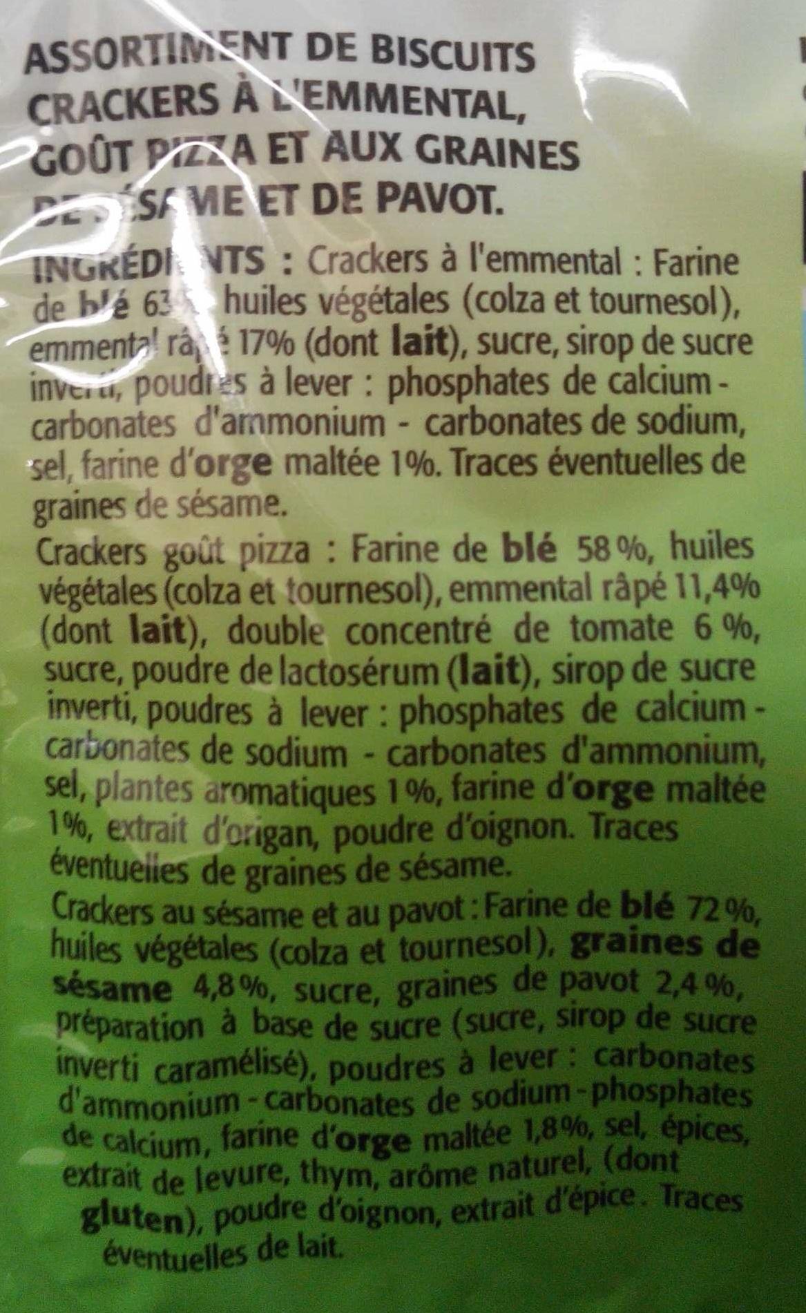 Coffret de biscuits crackers - Ingrediënten