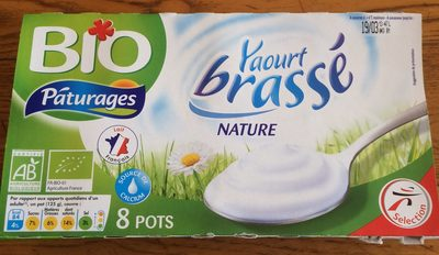 Yaourt brassé nature BIO, les 8 pots de 125 g - Product - fr