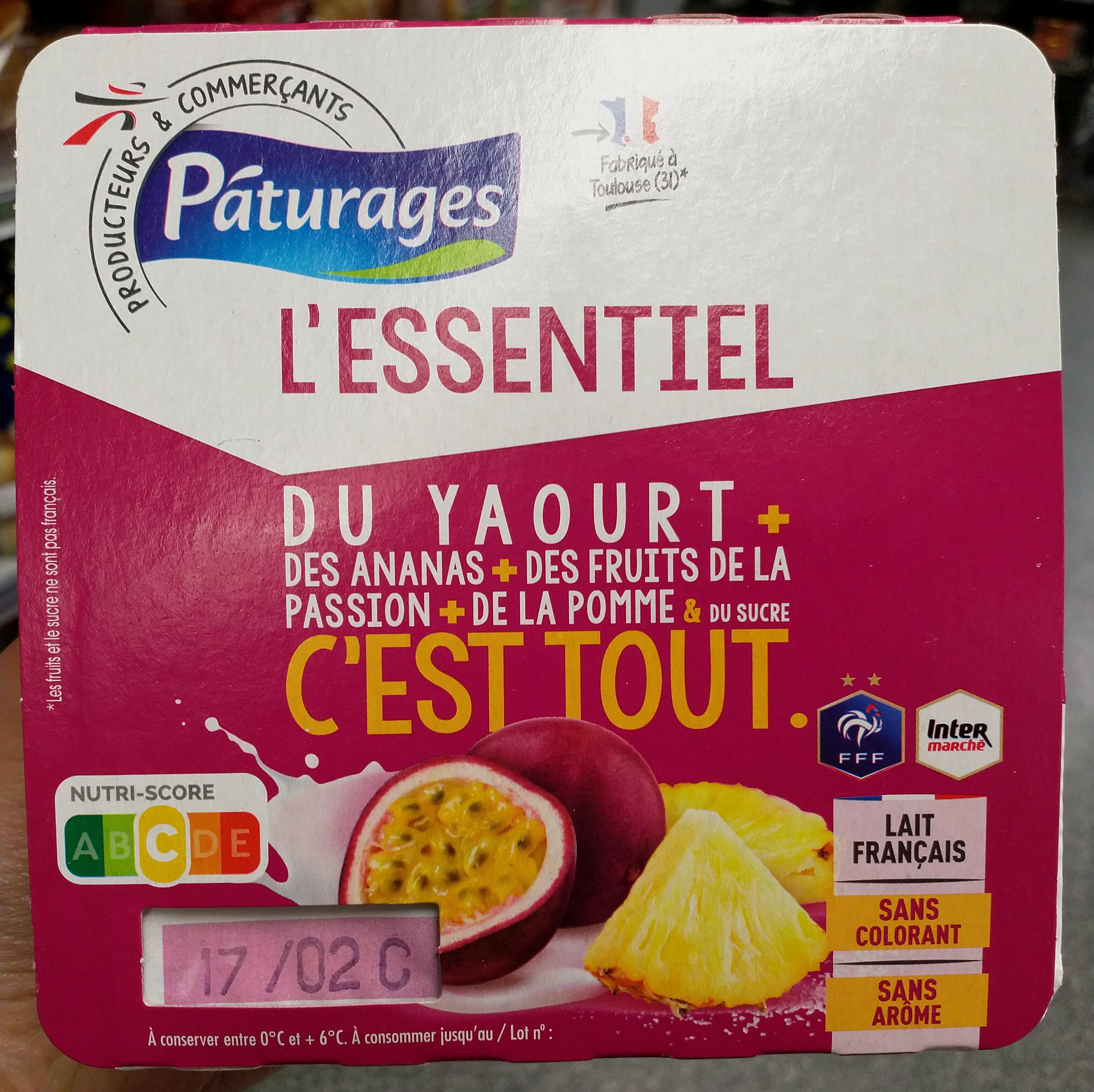 Du yaourt + des ananas + des fruits de la passion + de la pomme & du sucre c'est tout - Produit - fr