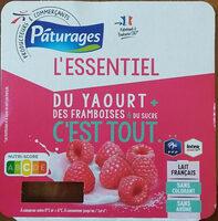 L'essentiel du yaourt + des framboise & du sucre c'est tout - Produit - fr