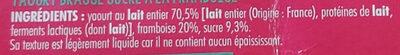 L'essentiel du yaourt + des framboise & du sucre c'est tout - Ingrédients - fr