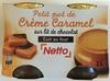Petit pot de Crème Caramel sur lit de chocolat - Product