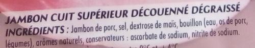 Mon Gourmand Cuisiné à l'Os - Ingredients - fr