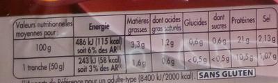 Mon Gourmand Cuisiné à l'Os - Nutrition facts - fr