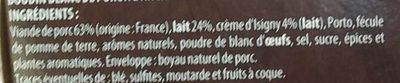 Boudins blancs à l'ancienne à la crème d'Isigny AOP - Ingrédients - fr