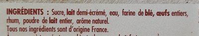 6 Canelés de Bordeaux - Ingrédients