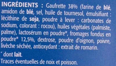 Gaufrettes fromage - Ingredients