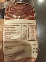 Crozets de Savoie au Sarrasin - Itinéraire des Saveurs - Informations nutritionnelles - fr