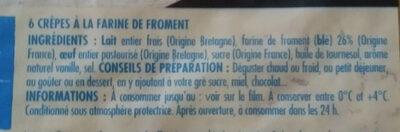 6 Crêpes Bretonnes - Ingredients - fr