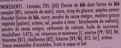 Céréales déli cookie aux pépites chocolatées - Ingredients - fr