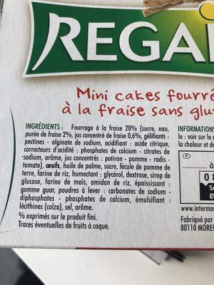 Cake Fraise sans Gluten - Ingredients