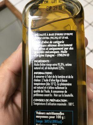 Bo H.olive Aromatise Ail - Ingrédients