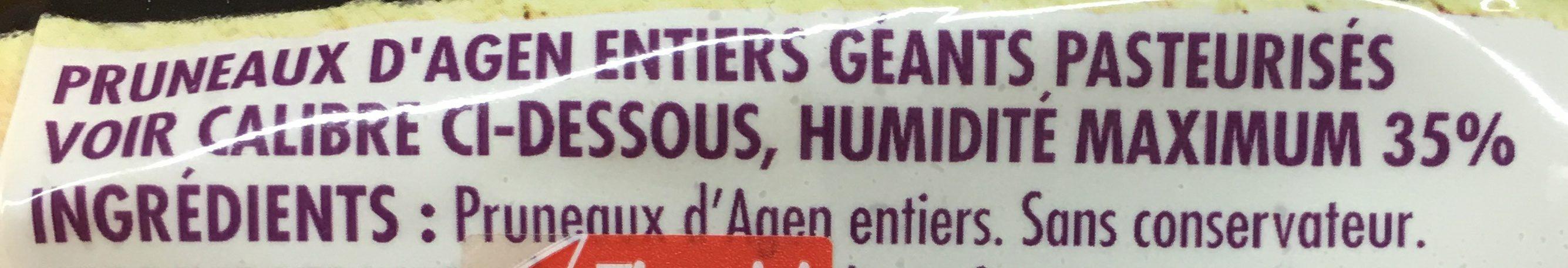 Pruneaux d'agen geant entiers ids - Ingredientes - fr