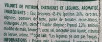 Velouté potiron et châtaigne - Ingrediënten - fr