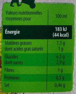 Velouté potiron et châtaigne - Voedingswaarden - fr