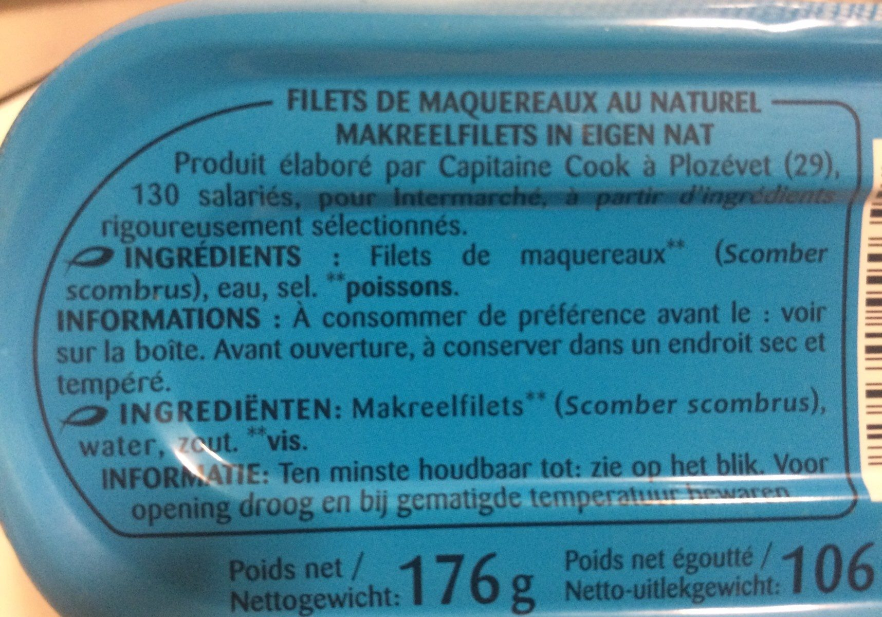 Filets de maquereaux - Ingredients