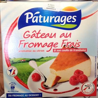 Gâteau au fromage frais & son coulis de framboise - Product - fr