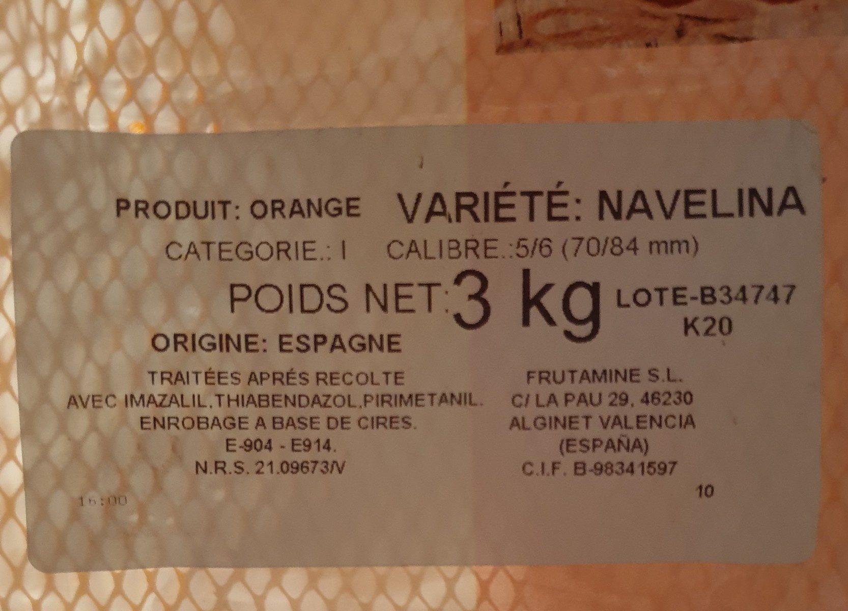Oranges à dessert - Ingrediënten - fr