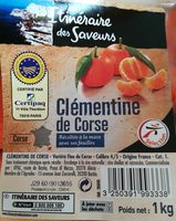 Clémentines de Corse - Ingredients - fr