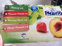Compote Pomme Panachée Pomme Fraise Poire Pêche - Produit - fr