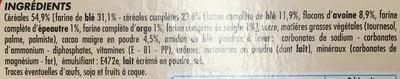 Biscuits pour le Petit Déjeuner - goût chocolat noisette - Ingredients - fr