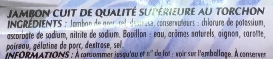 Mon Gourmand au Torchon (25% de sel en moins) - Ingrédients
