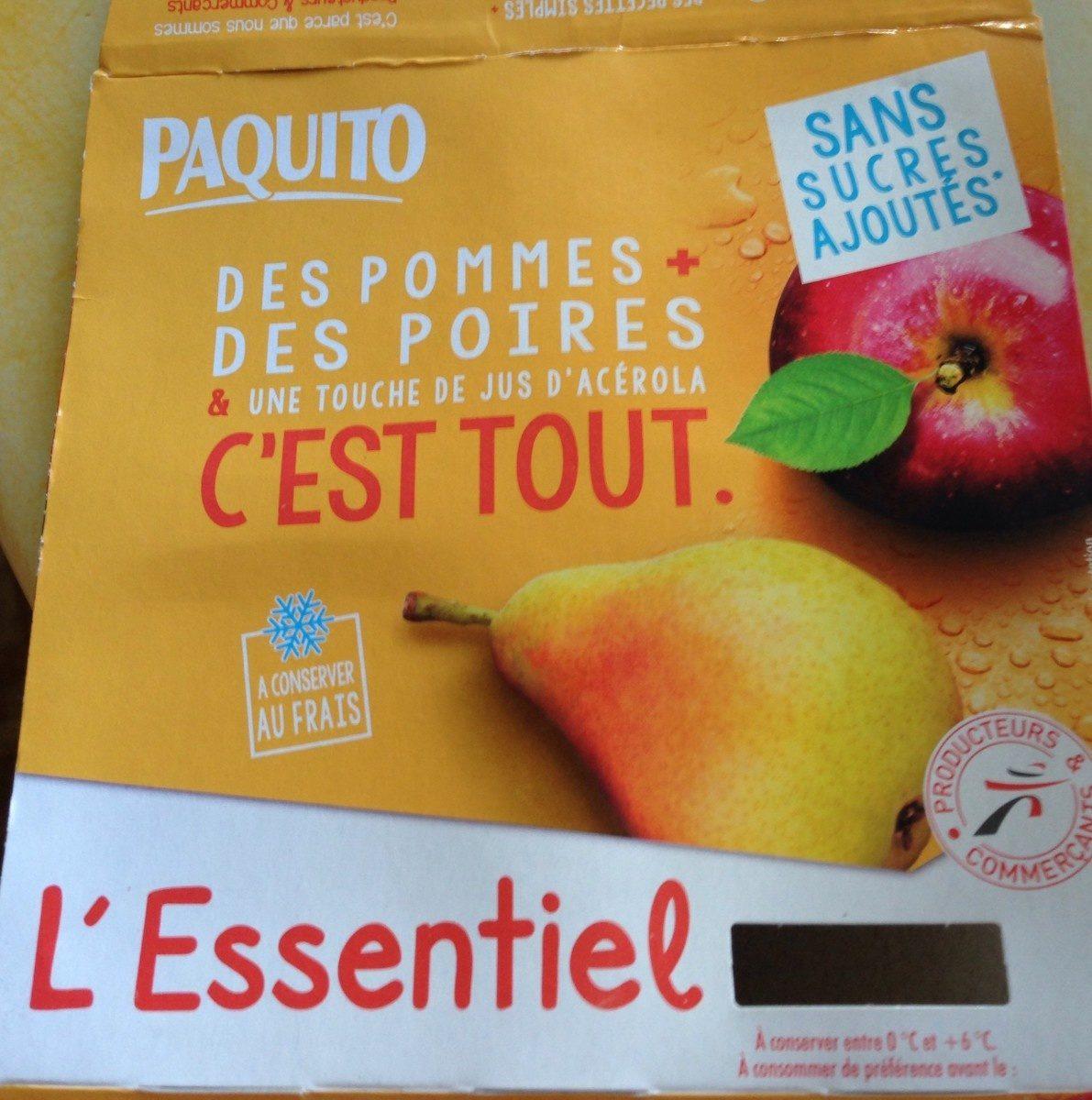 L'Essentiel Pomme-Poire sans sucres ajoutés - Product - fr