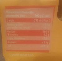 L'Essentiel Pomme-Poire sans sucres ajoutés - Nutrition facts - fr