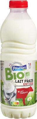 Lait frais entier bio - Produit - fr