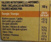 Paquito Pêches en coupelles au sirop léger les 4 pots de 65 g - Informations nutritionnelles - fr