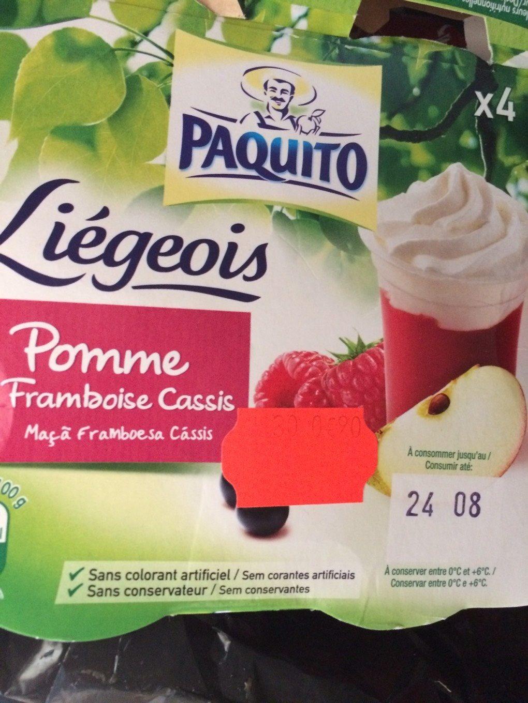 4 Liégeois Pomme Framboise Cassis - Product