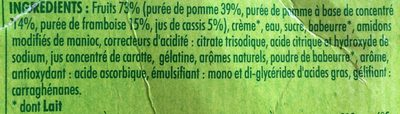 4 Liégeois Pomme Framboise Cassis - Ingrediënten