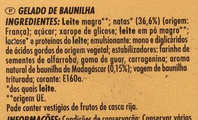 Crème de vanille - Ingredients