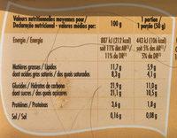 Bac crème de vanille (CG) - Informations nutritionnelles - fr