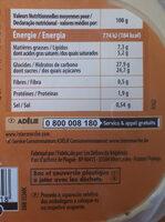 Bac caramel fleur de sel de Guérande (CG) - Nutrition facts