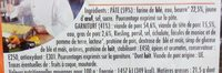 Friand à la viande - Ingrédients - fr