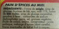 Pain d'épices au miel fondant - Ingrediënten - fr