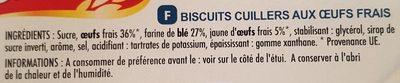 Cuillers dégustation - Ingredients
