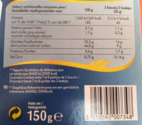 Cuillers dégustation - Nutrition facts
